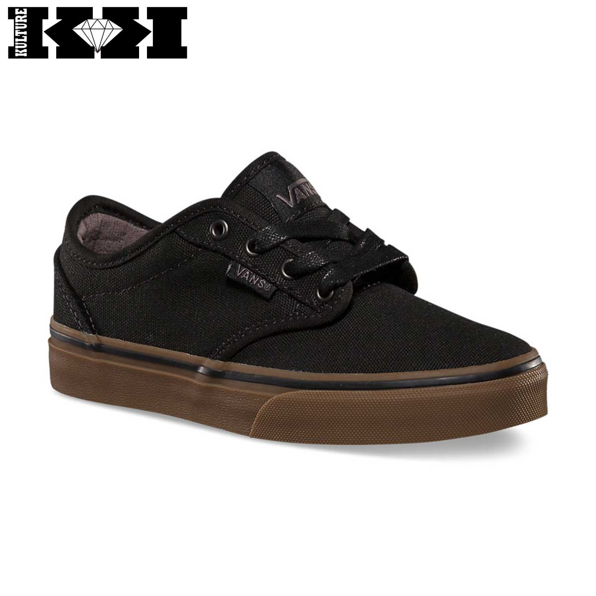zapatillas vans niños negro